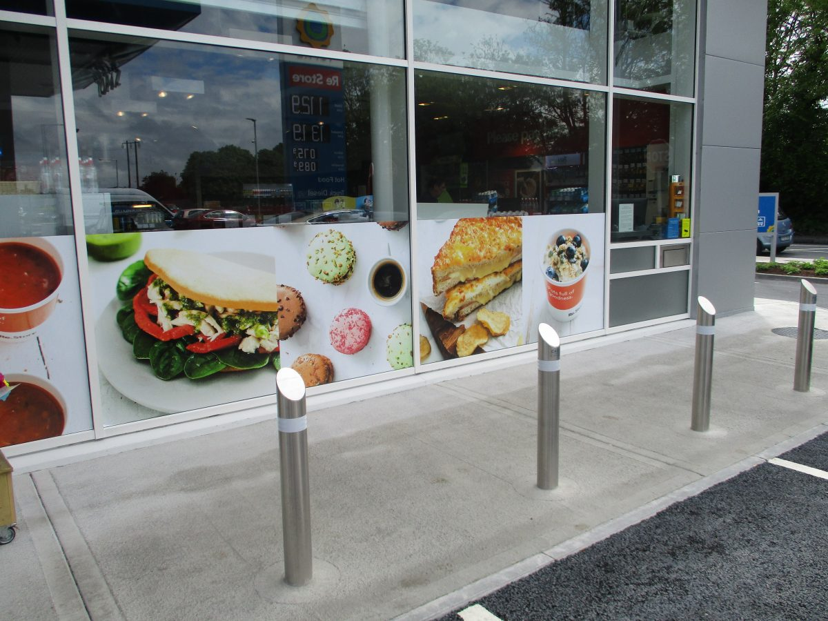 Stainless Steel Crossed Bollards 2