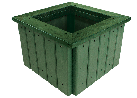 Recycled Plastic Planter With Rim Street Furniture Suppliers Metal Casting Castit
