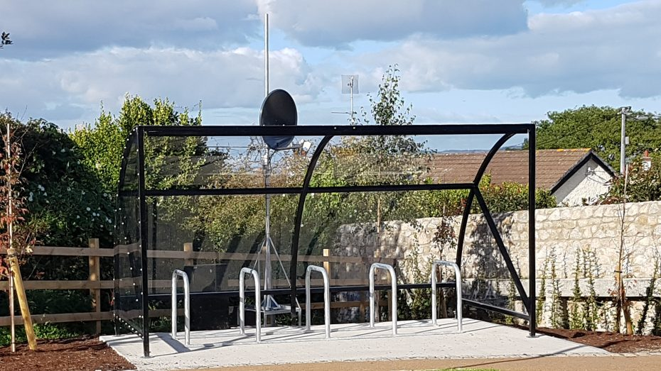 Curved Back Bicycle Shelter